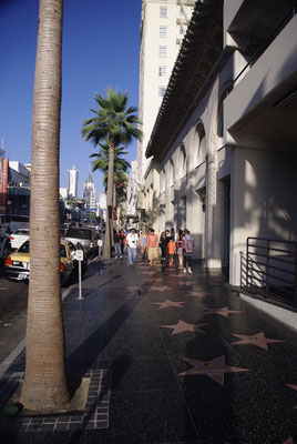 Le mythique Hollywood Boulevard !