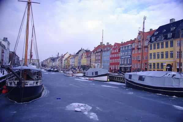 Le quartier Nyhavn à Copenhague en plein hiver !