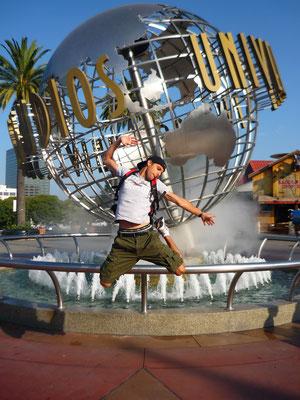 Devant Universal Studios Hollywood !