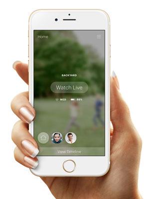 L'app de Canary vous permet de rester en contact avec votre maison pendant vos vacances / Crédit : Canary
