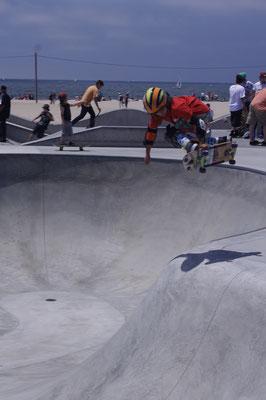 Les skateurs sur Venice Beach