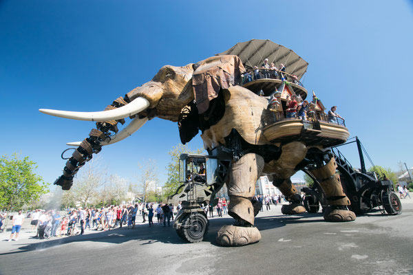 Le Grand Elephant des Machines de l'Île à Nantes