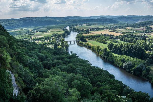 Vue sur la vallée de la Dordogne depuis el village de Domme !