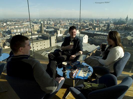 Vue sur Dublin depuis le Guinness Storehouse - Crédit Photo : Ireland Tourism - Kevin Dunne