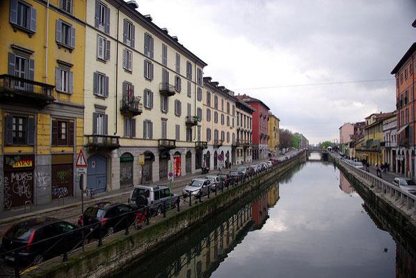 Le quartier de Navigli à Milan