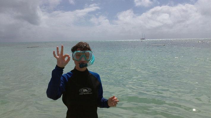 Prêts pour aller faire du snorkeling !
