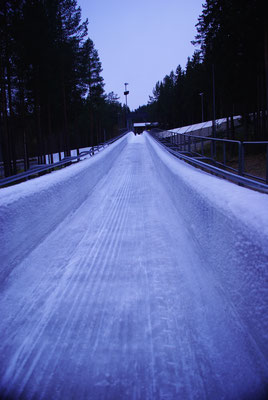 Fin de la piste de bobsleigh de Lillehammer