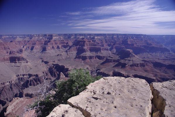Vue sur le Grand Canyon à partir du Sud du Parc !