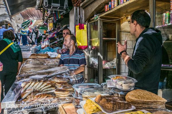 Etal dans les ruelles de Jérusalem
