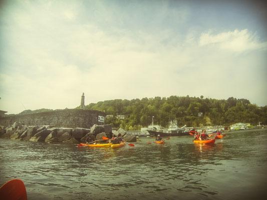 Dans le port de pêche de Fontarabie