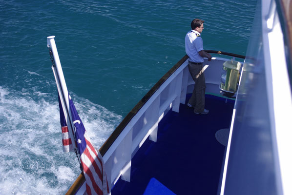 Vue sur l'arrière du bateau !