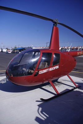 L'hélicoptère dans lequel on a survolé L.A.
