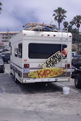 Des surfeurs à Santa Monica !