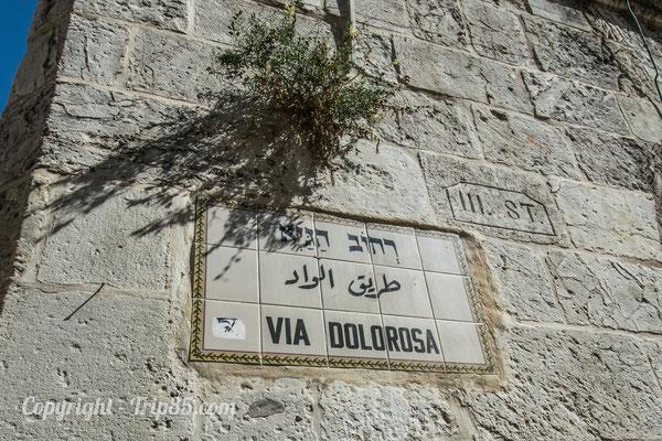 La Via Dolorosa dans Jérsualem