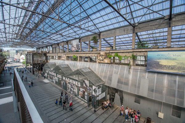 Le hall d'arrivée aux Machines de l'île à Nantes