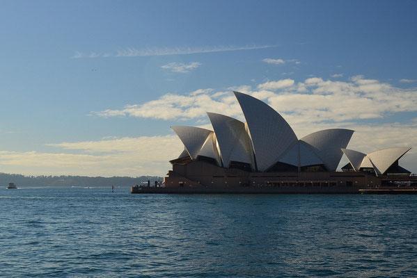 L'opéra de Sydney vu depuis le quartier The Rocks