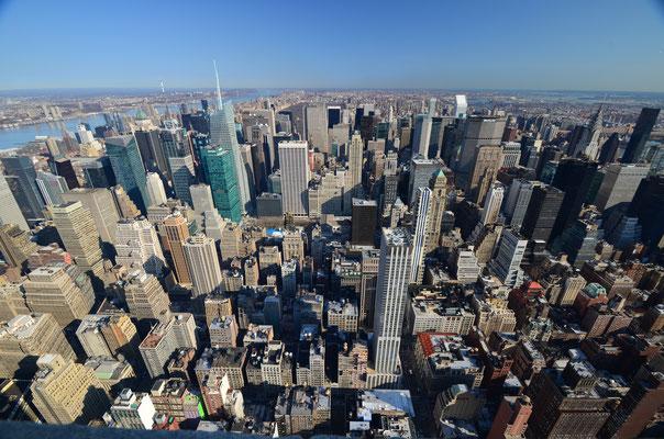 Vue sur New York depuis l'Empire State Building !