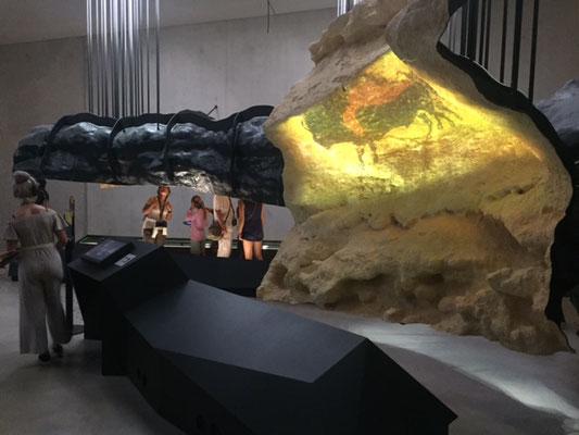 La dernière salle de la visite des grottes de Lascaux IV