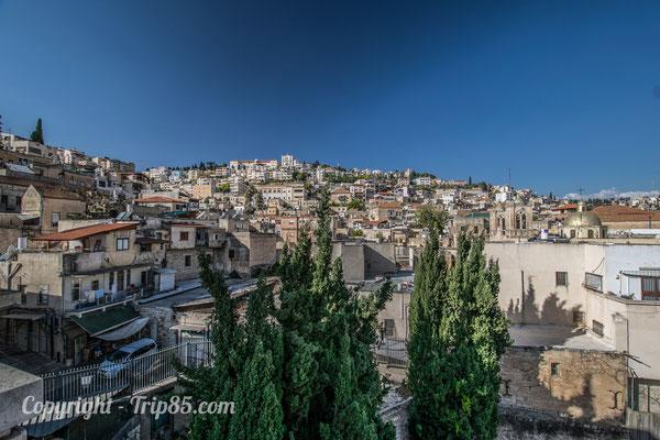 Vue sur la ville de Nazareth - Crédit Photo : Trip85.com