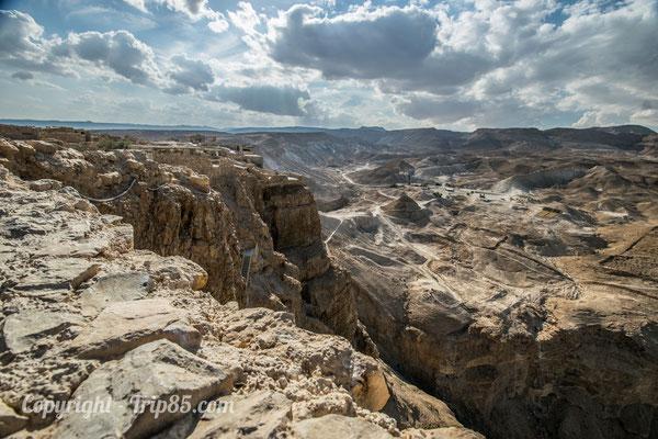 Vue depuis Masada en Israël - Crédit Photo : Trip85.com