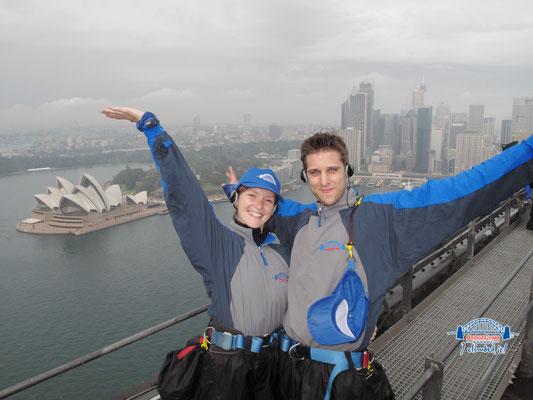 Au sommet du pont du Harbour Bridge de Sydney !