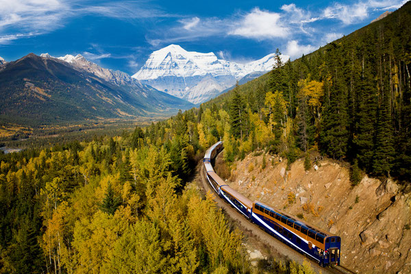 Mount Robson, BC. Photo Credit - Rocky Mountaineer