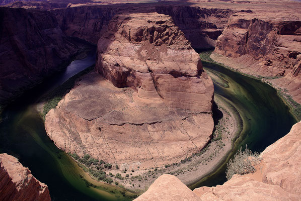On passe en rafting sur le Colorado aux pieds de Horseshoe bend !