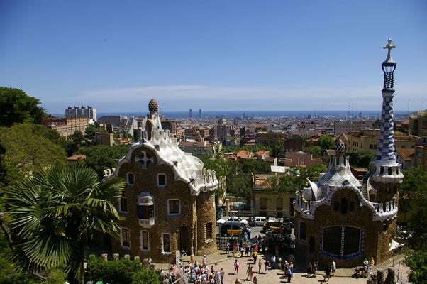 L'entrée du Parc Guëll à Barcelone !