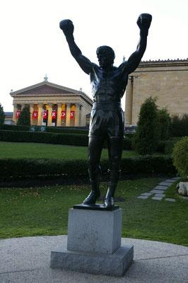 La statue de Rocky à Philly !