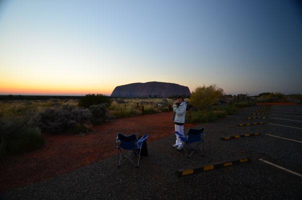 Lever à Uluru - Roadtrip en Australie - Copyright Trip85.com