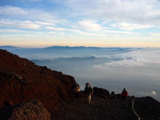 La redescente du Mont Fuji !