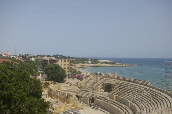 Vue sur l'Amphithéâtre romain de Tarragone !
