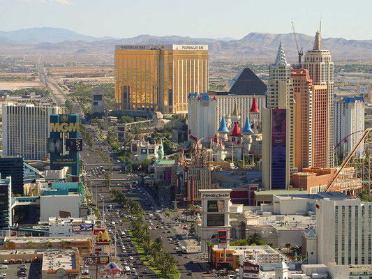 Le strip de Las Vegas, Source : Wikimedia - Auteur : Jon Sullivan