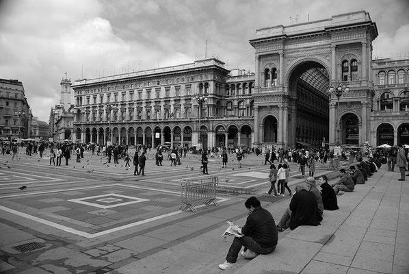 la Galerie de Vittorio Emanuele II à Milan - Vue extérieure