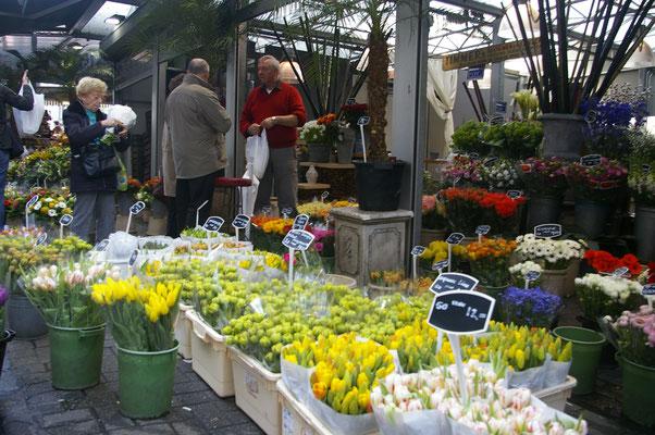 Le marché axu fleurs de Bloemenmarkt - Copyright : Trip85.com