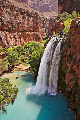 Havasu Falls près du Grand Canyon - Crédit Photo : By User:Moondigger (Own work) [CC BY-SA 2.5 (http://creativecommons.org/licenses/by-sa/2.5)], via Wikimedia Commons
