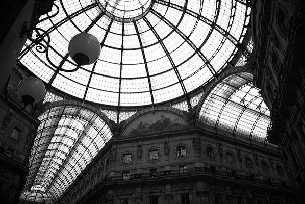 la Galerie de Vittorio Emanuele II à Milan - Vue intérieure
