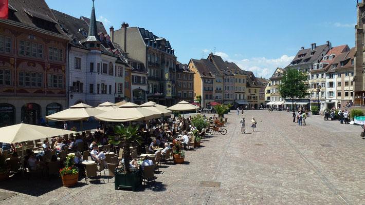 Terrasses à Mulhouse, Alsace - Source OT de Mulhouse