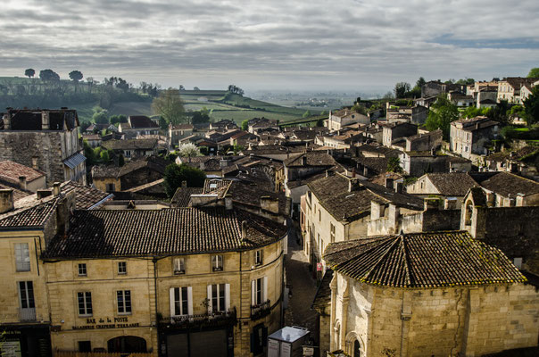 Vue sur Saint-Emilion - Crédit Photo : Trip85.com