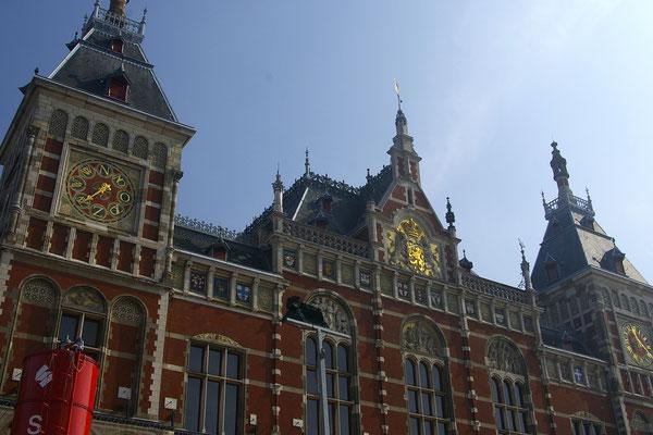 La gare d'Amsterdam - Copyright : Trip85.com