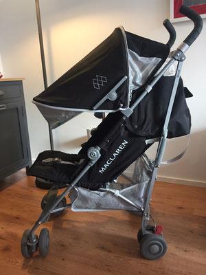 Capote extensible pour protéger bébé du soleil ou de la pluie - MacLaren Quest - Crédit Photo : Trip85.com