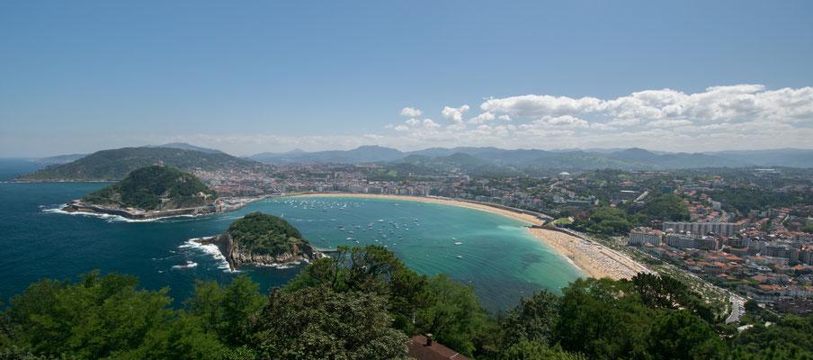 Vue sur la Concha de San Sebastian, l'une des plus belles baies du monde !