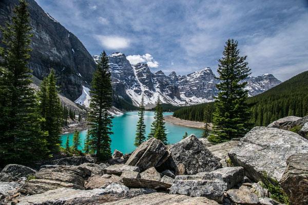 Le Lac Moraine au Canada