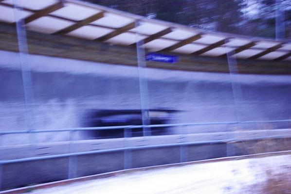 Le bobsleigh qui passe à plus de 120 km/h !