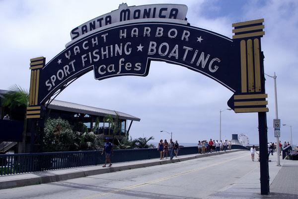 Entrée de Santa Monica !