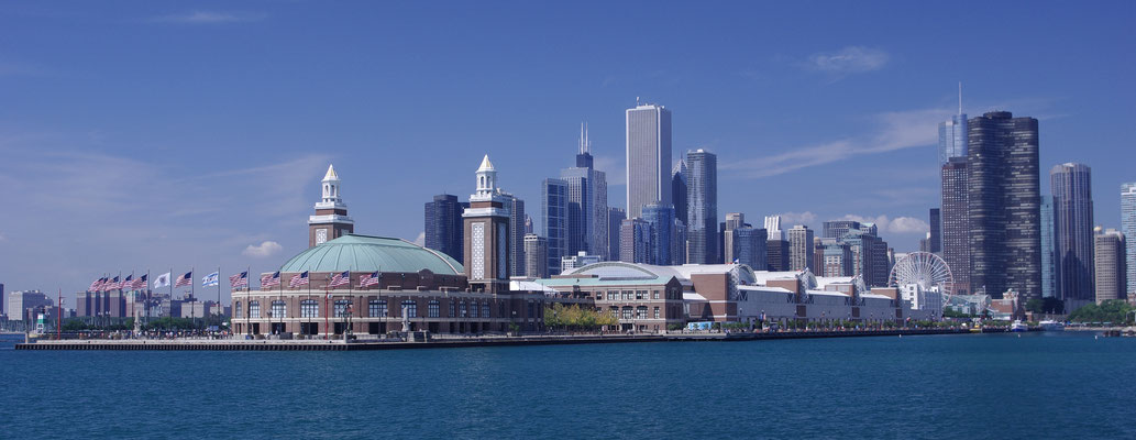Navy Pier à Chicago ! Vue depuis le Lac Michigan