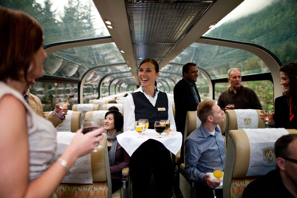 Service in GoldLeaf Service. Photo Credit - Rocky Mountaineer