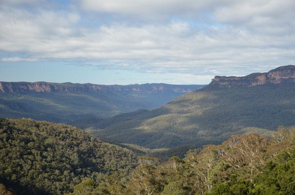 Vue sur les Blue Mountains depuis notre balade !
