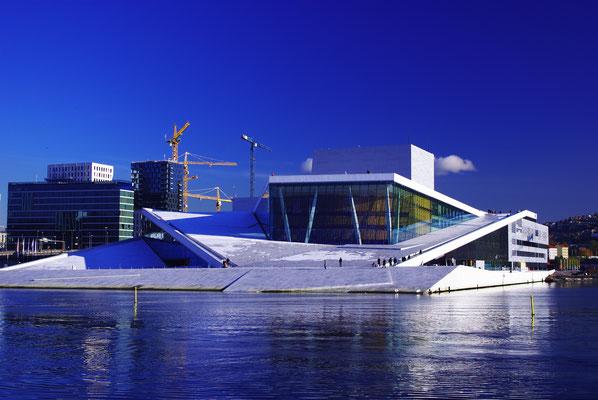 L'opéra d'Oslo depuis l'extérieur !