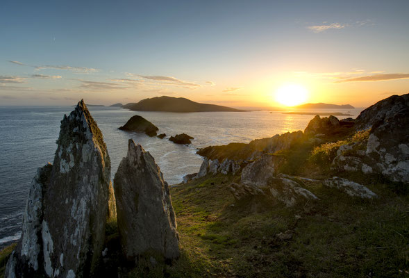 Les îles Blaskets depuis Dunmor Head - Crédit Photo : Ireland Tourism - Chris Hill